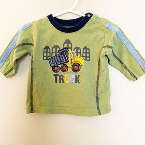 Carter's Baby Boy TRUCK T-Shirt Green 6MO